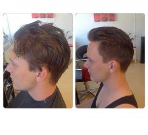 Ny frisyr på man